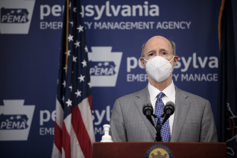 Pa. Gov. Tom Wolf speaks at the press conference on March 3, 2021. (Governor Tom Wolf/Flickr)