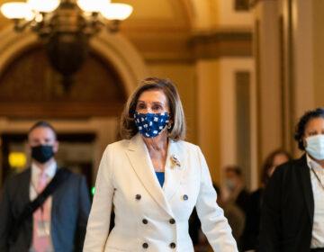 House Speaker Nancy Pelosi of Calif., walks from the House floor