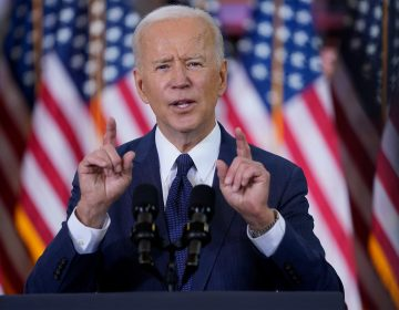 President Joe Biden delivers a speech
