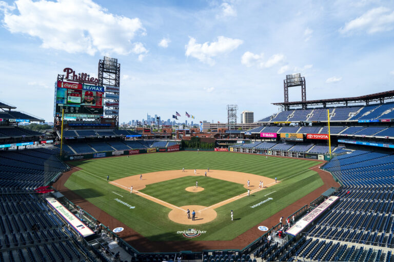 General view of Citizens Bank Park during a Phillies game