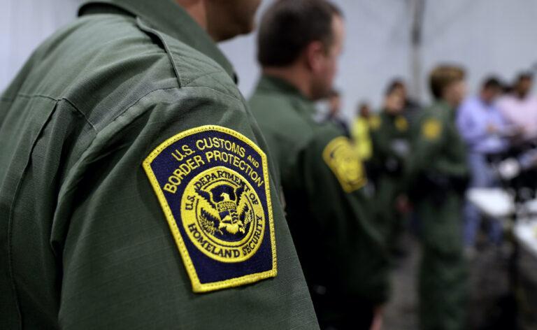A close-up of a Border Patrol agent's uniform