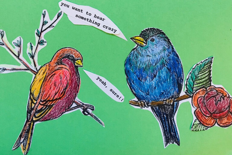 Erich Jarvis joins us for this bonus episode of The Pulse on the language of birds and other animals. (Illustration by Maiken Scott)