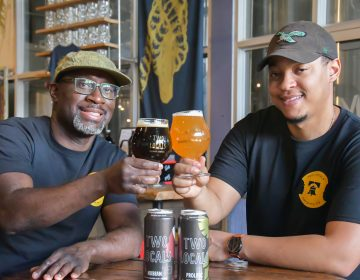 Mengistu and Richard Koilor are the owners of Two Locals Brewing Company. (Courtesy of FCM Hospitality)