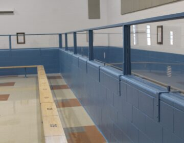 The visitation room at James T. Vaughn Correctional Center (State of Delaware)