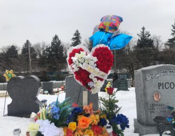David Williams was shot and killed in Southwest Philadelphia in May 2020. On Valentine's Day 2021, which would have been his 19th birthday, friends and family gathered at his grave in Lansdowne. (Emily Rizzo for WHYY)