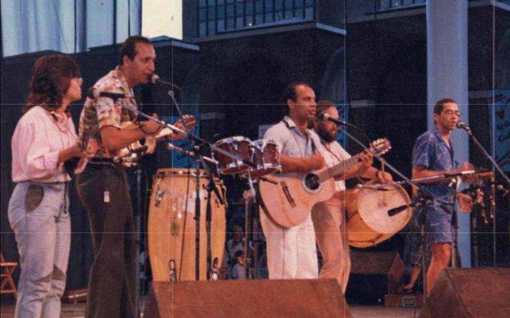 Alba Martínez was a part of a salsa group called Síntesis during the mid-to-late 1980's — she joined a few years after she came to Philadelphia. | Alba Martínez formó parte de un grupo de salsa llamado Síntesis en los 1980's, unos años después de llegar a Filadelfia. (Courtesy of Alba Martínez)