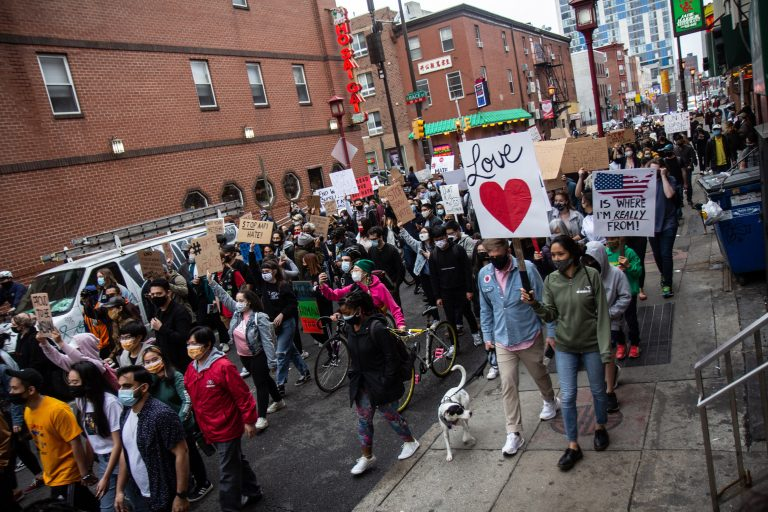 Philadelphians march in solidarity against violence directed at Asian Americans