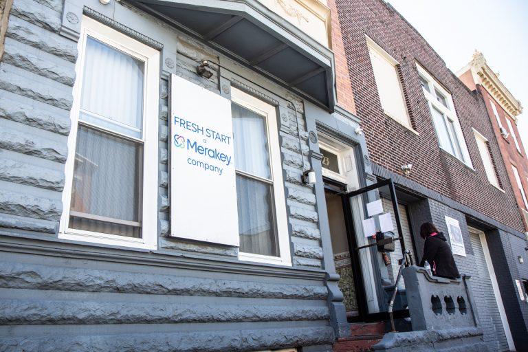 Merakey's Fresh Start recovery program on Frankford Avenue in Philadelphia's Kensington neighborhood arranged for the Philadelphia Health Department to administer the Johnson & Johnson vaccine to residents on March 30, 2021. (Kimberly Paynter/WHYY)