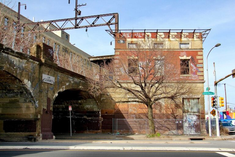 The owner of the former Spring Garden train station, once a stop on the Reading Railroad,  filed for permits to demolish the historic structure. (Emma Lee/WHYY)