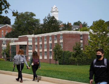 Students on the campus of Kutztown University