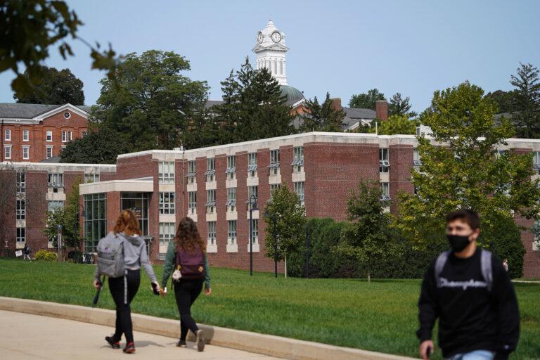 Students on the campus of Kutztown University