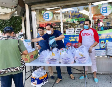 Community health workers and field staff assisting with food delivery during the COVID-19 pandemic