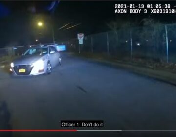 In a rare move, New Castle County released body-worn camera footage of police shooting and killing of Lymond Moses before the Dept. of Justice completed its investigation into the incident. (Courtesy of New Castle County)