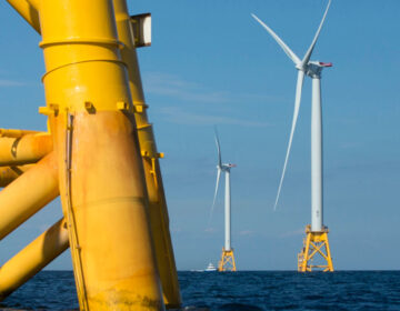 Wind turbines from the Deepwater Wind project off Block Island, Rhode Island (AP Photo/Michael Dwyer, File)