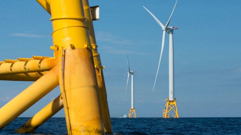 Wind turbines from the Deepwater Wind project off Block Island, Rhode Island (AP Photo/Michael Dwyer, File)