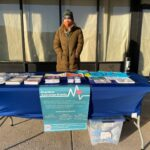 Jennifer Shinefeld, a field epidemiologist in the Division of Substance Use and Harm Reduction at the Department of Public Health. She is at 24th and Oregon as part of an outdoor 'pop-up' to distribute naloxone. (Courtesy of the Philadelphia Department of Public Health)