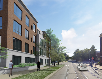 Rendering of protested development proposal at 48th & Chester Avenue in West Philly. (JKRP Architects)