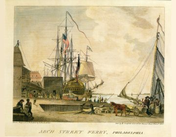 The virus is thought to have come ashore at the wharf where the Arch Street Ferry docked (Wikimedia Commons/Independence National Historic Park)