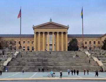 The steps of the Philadelphia Art Museum