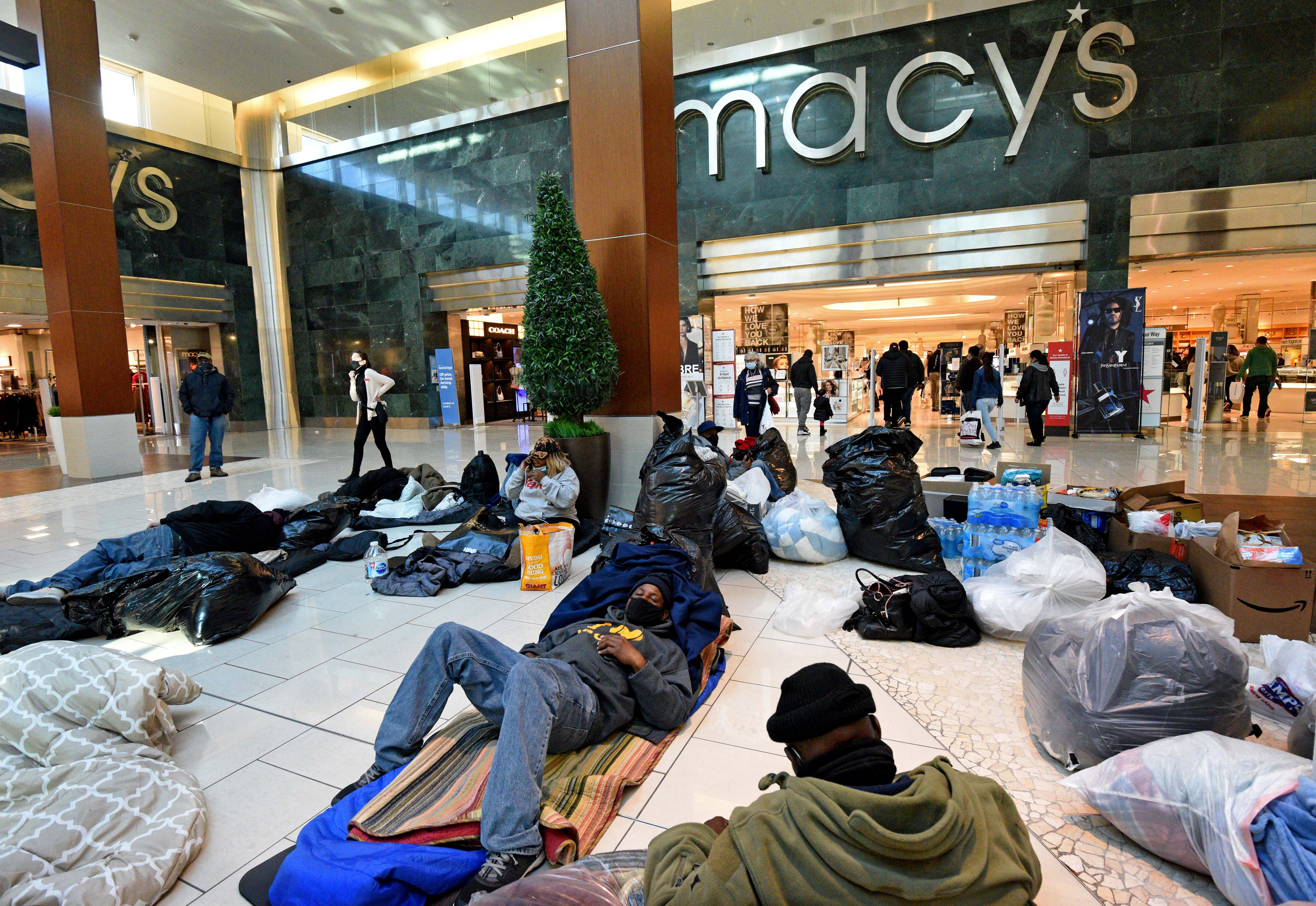Why individuals experiencing homelessness staged a sit-in at the Cherry Hill Mall