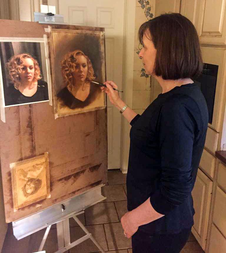 Psychologist Eileen Kennedy-Moore paints a portrait