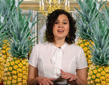 Kae Lani Palmisano and pineapples in Delishtory: Historical Food Flexes