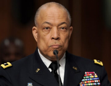 Army Maj. Gen. William Walker is seen during a joint hearing to discuss the January 6th attack on the U.S. Capitol.