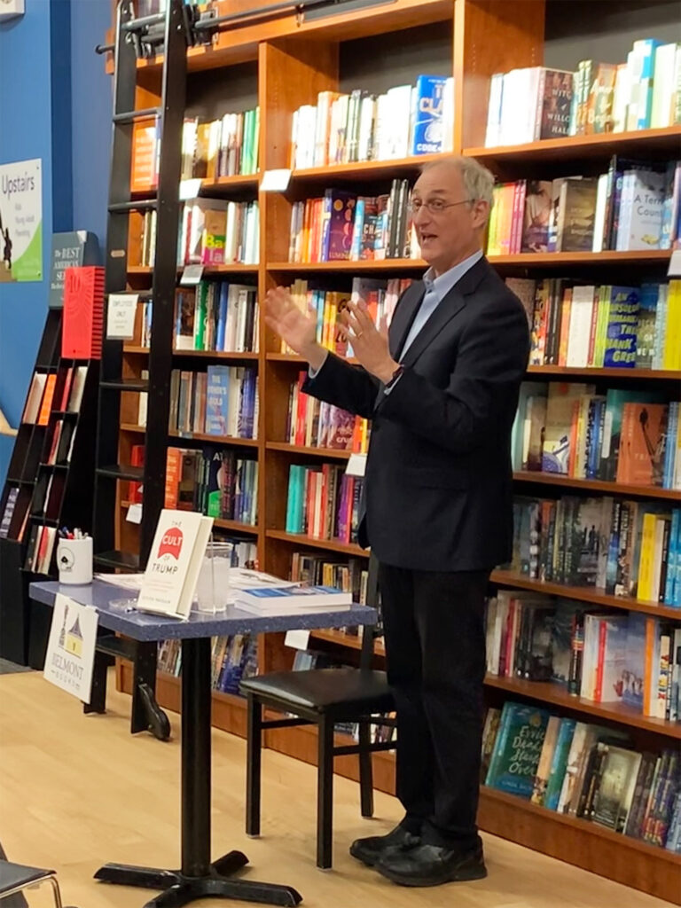 Steven Hassan speaks at a book event