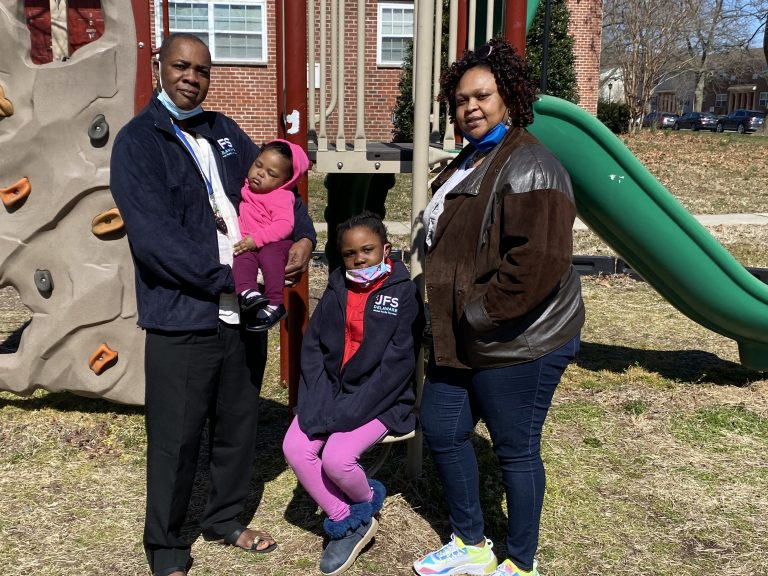 The Mulema family fled the Central African Republic, spent years in a refugee camp, and were eventually resettled in Newark, Del., by Jewish Family Services. (Tom Gjelten/NPR)