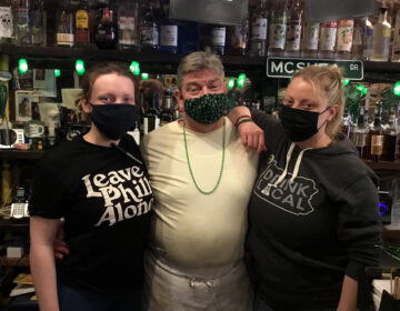 Theresa, John, and Aileen McShea in their restaurant