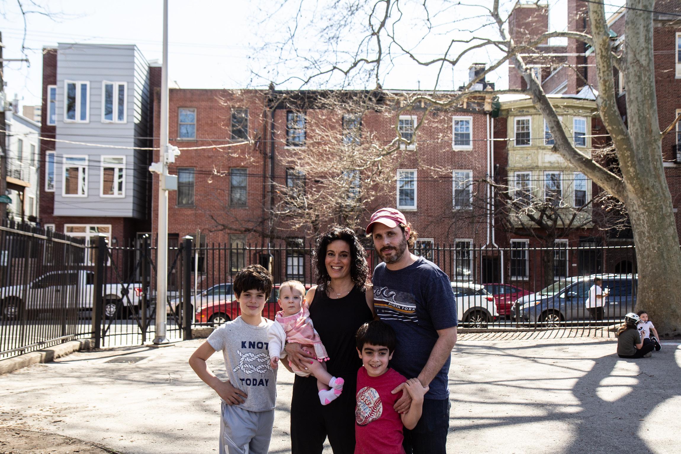 Blair Pomerantz, her husband Lance, their children Brayden, 9, Lance, 6, and 8-month-old Violet.