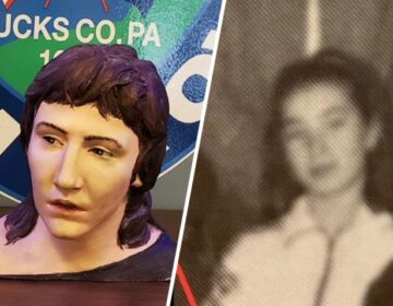 L to R: A forensic sculpture of Lisa Todd. A high school photo of Lisa Todd. (NBC10)