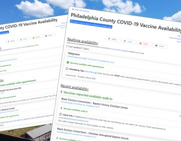 An illustration of COVID-19 vaccine appointment forms