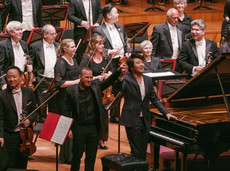 Conductor Yannick Nezet-Seguin with pianist Lang Lang