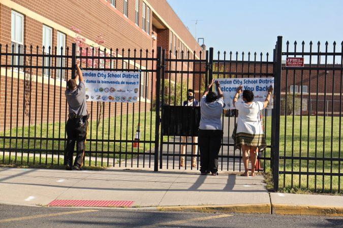 Employees at H.B. Wilson Elementary School