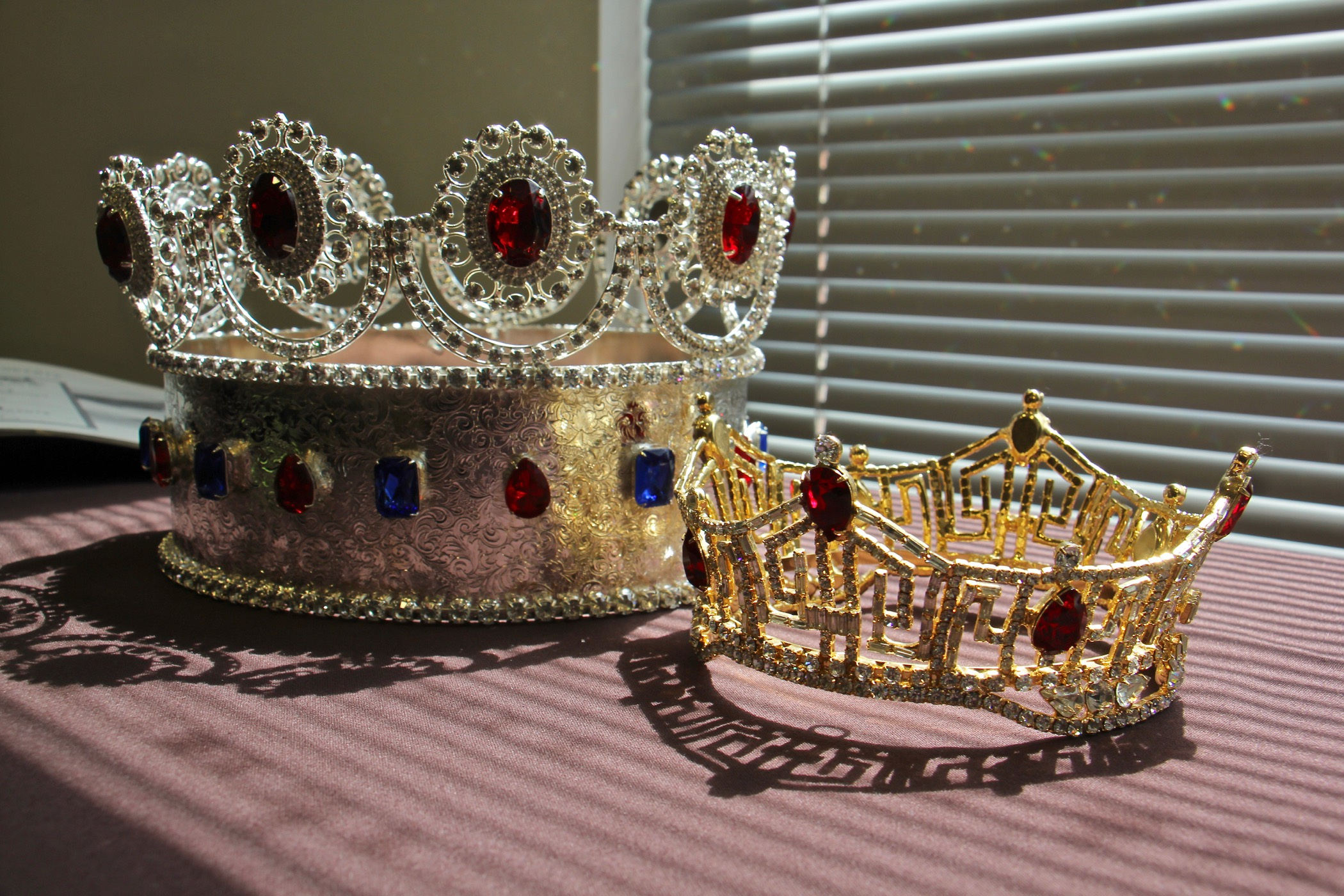 Two different crowns worn by Miss America winners