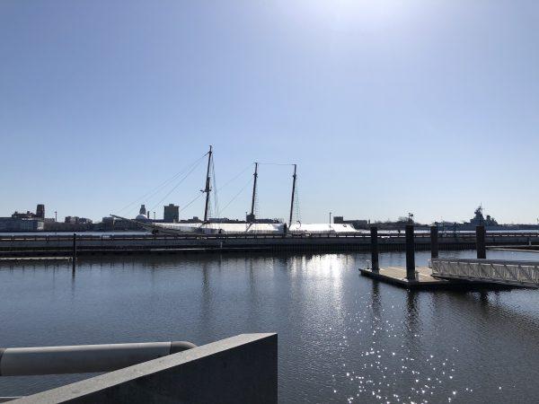 Gazela moored on the Delaware River at Penn's Landing.