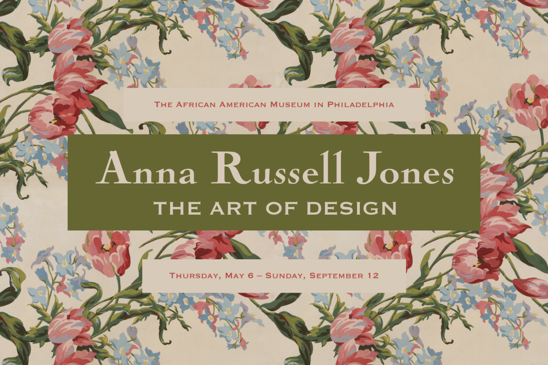 "A promotional image for ""Anna Russell Jones: The Art of Design"""