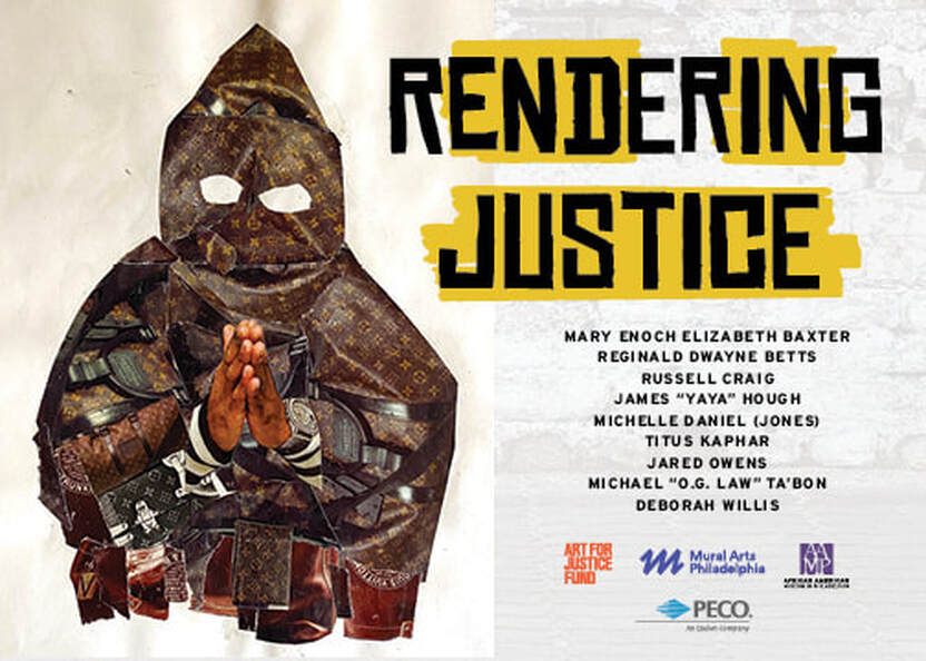 "A promotional image for ""Rendering Justice"""