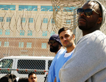 Adnan Khan (middle) spent 16 years of his life in California prisons until he was released in 2019 under a re-sentencing bill he helped create while behind bars. Now he's an advocate on behalf of incarcerated people. (Courtesy of Adnan Khan)