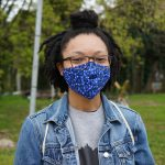 Autumn Talley, a doctoral student in criminal justice at Temple University, runs the social media for the Care, Not Control coalition. (Kenny Cooper/WHYY)