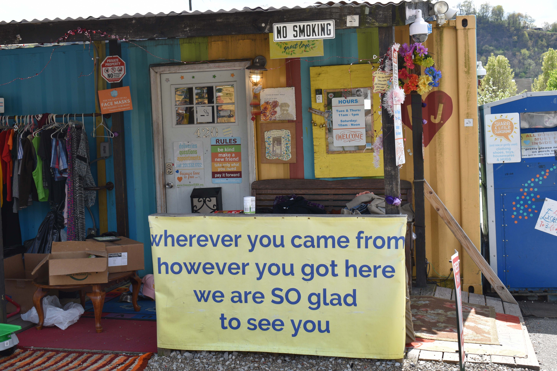 Braddock's Free Store, run by Gisele Barreto Fetterman, wife of former mayor John Fetterman. (Katie Meyer/WHYY)