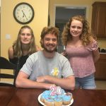 Jack Hurley celebrating his 20th birthday with his sisters Clare (left) and Nora (right) (Courtesy of Jack Hurley)