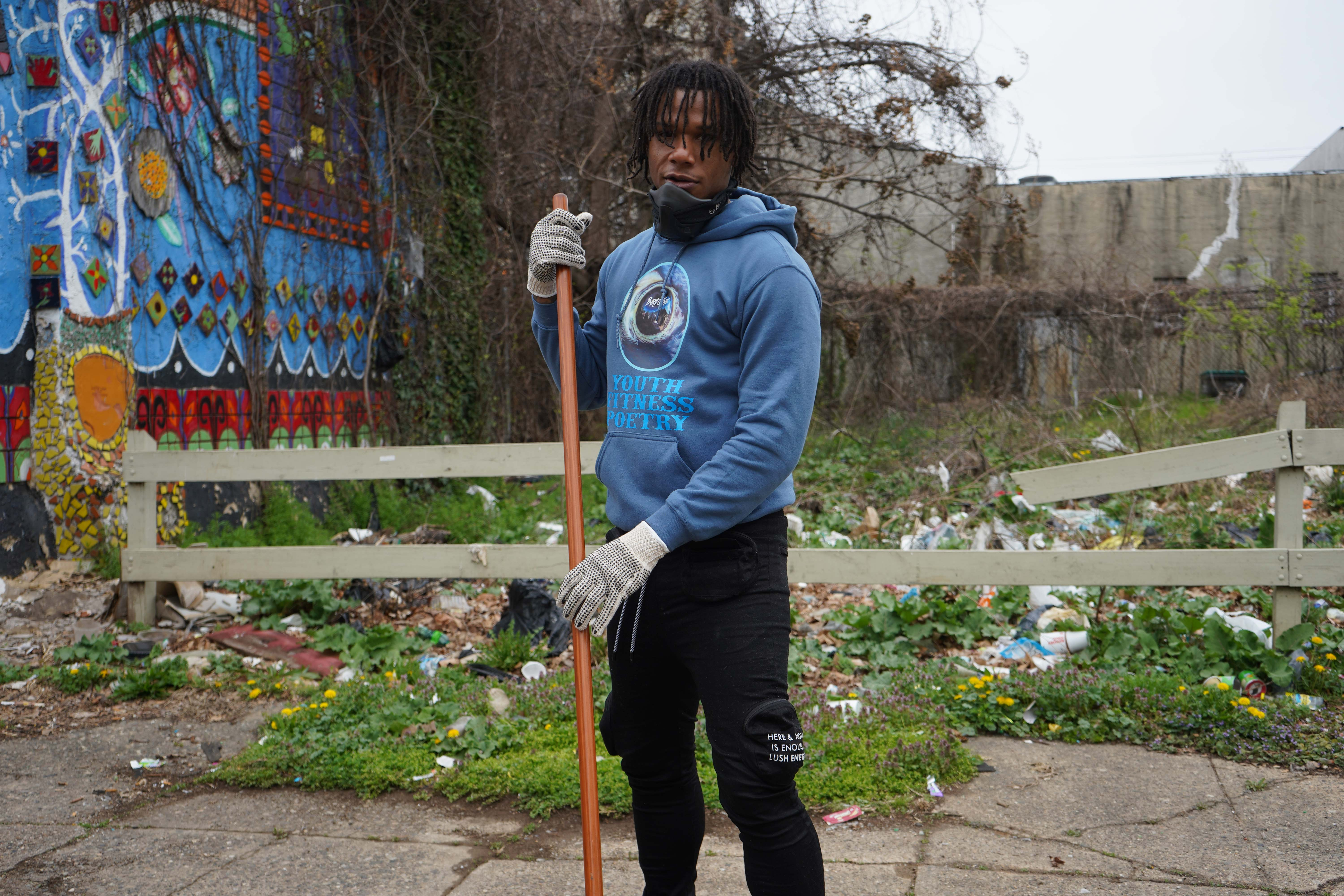 Jacqua Ginllett is the co-founder of One Block At A Time. (Kenny Cooper/WHYY)