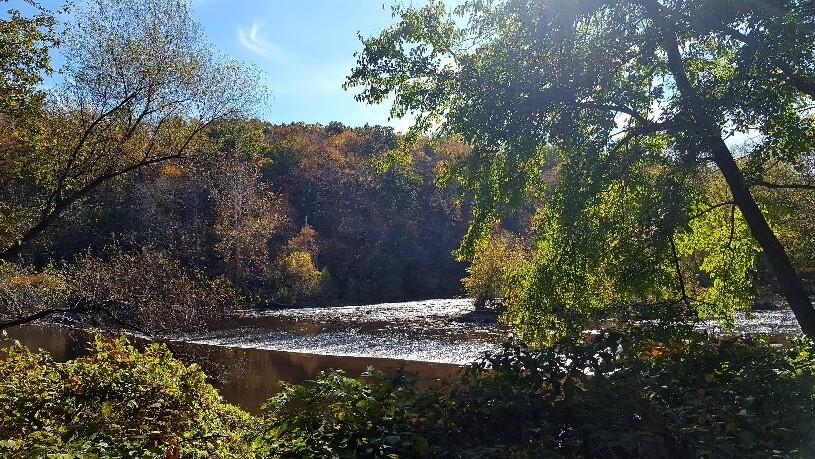 The Perkiomen Creek dam at Lower Perkiomen Valley Park. (Courtesy of Montgomery County)