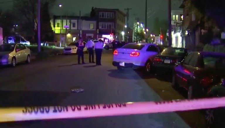 A 6-year-old boy was hurt, and his father killed, in a shooting in West Philly Wednesday night. (NBC10)