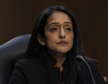 The Senate has voted to confirm Vanita Gupta to serve as associate attorney general. Above, Gupta appears during her confirmation hearing before the Senate Judiciary Committee on March 9, 2021. (Alex Brandon/AP Photo)