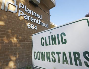 A sign is displayed at Planned Parenthood of Utah in Salt Lake City