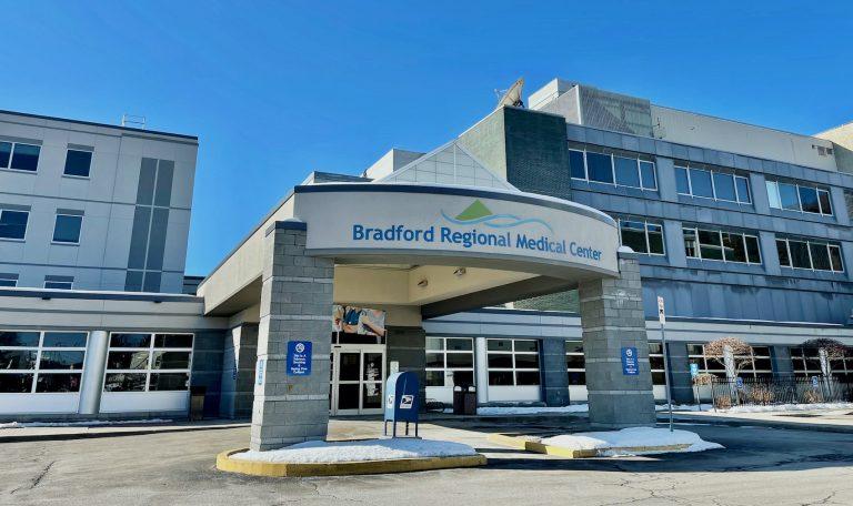 The exterior of Bradford Hospital
