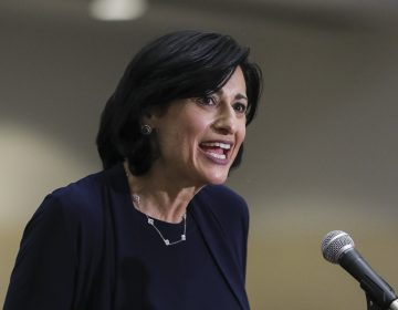 CDC Director Dr. Rochelle Walensky, seen last week at FEMA mass vaccination site in Boston, said Thursday that the CDC is taking steps to address the impact of racism on public health. (Erin Clark/Getty Images)